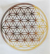 Sticker Flower of Life, 3 cm, 4 pcs.